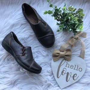 Clarks Collection Brown Leather Soft Cushion Shoes